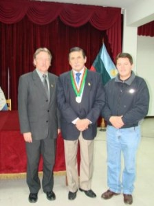 Ing. Jorge Bailón Abad, Alcalde del cantón de Loja recibio condecoración.