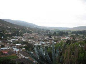 Panorámica de la entrada de la provincia de Luya