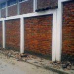 Pared lateral de la I.E. Seminario Jesús María.