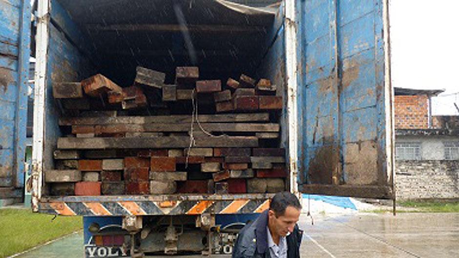 PNP decomisa más de 6 mil 500 pies de madera en San Nicolás
